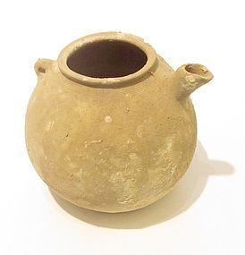 A CANAANITE TERRACOTTA TEAPOT FROM THE HOLY LAND