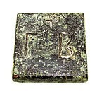 A BYZANTINE BRONZE COMMERCIAL WEIGHT