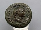 A RARE ROMAN BRONZE JUDAEA CAPTA SESTERIUS OF VESPASIAN