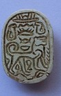 A CANAANITE HYKSOS PERIOD STEATITE SCARAB WITH LION