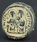 A BYZANTINE FOLLIS OF JUSTIN II AND EMPRESS SOPHIA