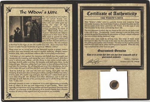 THE WIDOW'S MITE WITH DISPLAY FOLDER