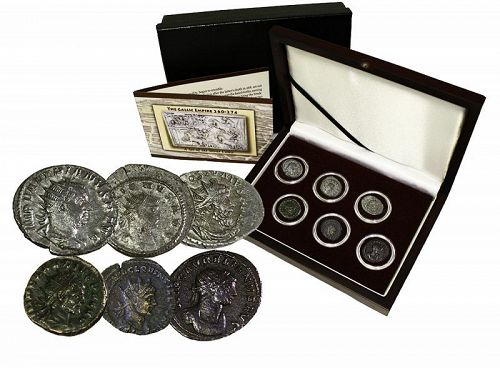 THE GALLIC EMPIRE (260-274): A SIX SILVER COIN BOXED COLLECTION