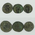 THREE BRONZE FOLLES OF MAXIMINUS II