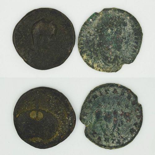 TWO ROMAN PROVINCIAL BRONZE COINS OF ELAGABALUS AND JULIAN II