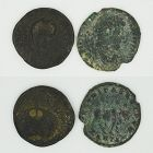 TWO ROMAN PROVINCIAL BRONZE COINS OF ELAGABALUS AND JULIAN II