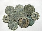 A COLLECTION OF 10 ROMAN BRONZE COINS
