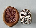 A CANAANITE STEATITE SCARAB OF THE HYSOS PERIOD