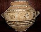 A RARE CYPRO-PHOENICIAN BRICHROME JAR OR DINOS