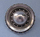 Victorian Sterling Locket-Back Brooch, c. 1880