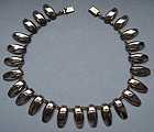 Mexican Sterling Drop Necklace, c. 1980