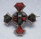 Victorian Sterling and Chalcedony Pin, c. 1880