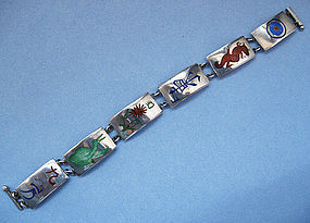 Sterling and Enamel Mah-Jongg Bracelet, c. 1930