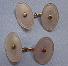 American Gold and Mother-of-Pearl Cuff Links, c. 1910