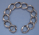 Sterling Handmade Link Bracelet, c. 1960