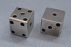 Mexican Sterling Silver Dice, c. 1960