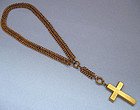 Victorian Multiple-Link Chain With Cross, c. 1890