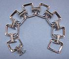 Sterling Bracelet of Rectangular Links, c. 1965