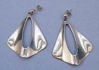 Danish Modernist Sterling Earrings, From, c. 1970