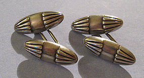 Sterling Cuff Links of Oblong Design, c. 1920