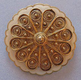 Norwegian Silver Gilt and Enamel Pin, Holth, c. 1960