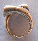 Mexican Sterling Ring, Abstract Design, c. 1975