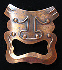 Rebajes Tragedy Mask Pin, c.1960