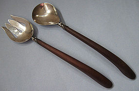 Sterling and Wood Servers, Bernice Goodspeed, c. 1950