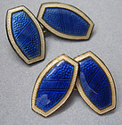 Sterling and Enamel Cuff Links, c. 1910