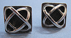 Polish Silver Cuff Links, �Atomic� Design, c. 1965