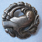 Georg Jensen Sterling Dove Pin, c.1940