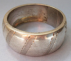 Mexican Sterling Hinged Bangle, c. 1985