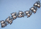Swedish Sterling Bracelet of Linked Leaves, 1945