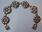 Sterling Flower Link Bracelet, c. 1960