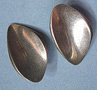 Danish Sterling Modernist Earrings, c. 1960