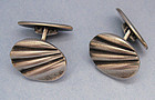 European Silver Cuff Links, c. 1935
