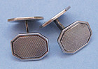 Silver Cuff Links, Textured Design, c. 1945