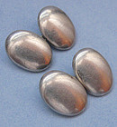 Sterling Silver Oval Cuff Links, c. 1930
