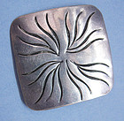 Handmade Sterling Pin by Joseph Skinger, c. 1950