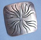 Handmade Sterling Pin by Joseph Skinger, c. 1950