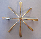 Sterling Stylized Starburst Pin, c. 1960