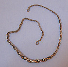 European Silver Chain Necklace, c. 1955