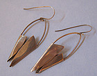 Handmade Sterling Abstract Earrings, c. 1965