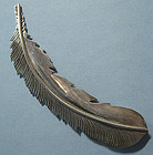 Navajo Sterling Feather Pin, c. 1980