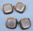 Gold-Filled Faux Mother-of-Pearl Cuff Links, c. 1930