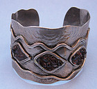 Sterling and Stone Cuff by Lillo, c. 1970