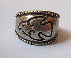Norwegian Pewter Ring, c. 1960