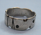 Ed Levin Sterling Band Ring, c. 1960