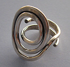 Norwegian Sterling Handmade Ring, c. 1970