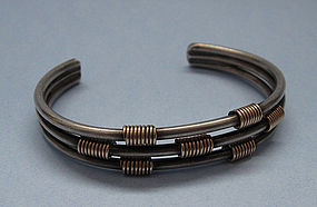 Mixed Metal Cuff, c. 1975